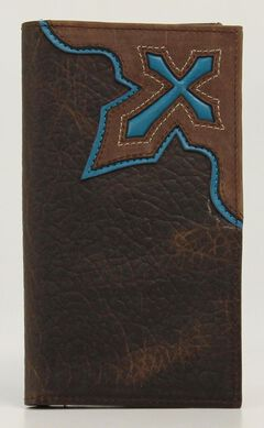 Nocona Cross Inlay Rodeo Wallet, , hi-res