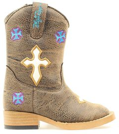 Blazin Roxx Toddler Girls' Sierra Zipper Cowgirl Boots - Square Toe, , hi-res