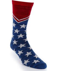 Smart Feet Americana Athletic Socks, Navy, hi-res
