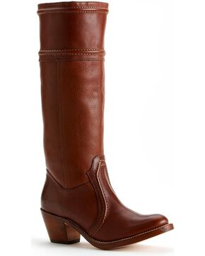 Frye Women's Jane 14L Wide Calf Tall Boots - Round Toe, Redwood, hi-res