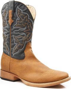Roper Men's Faux Leather Cowboy Boots - Square Toe, , hi-res
