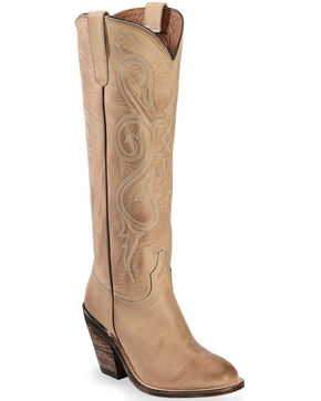 Lucchese Tan Vanessa Cowgirl Boots - Round Toe, Natural, hi-res