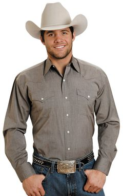 Stetson Solid Snap Oxford Shirt, , hi-res
