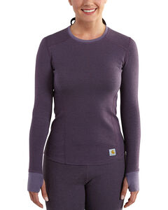 Carhartt Women's Base Force Cold Weather Crewneck Top, , hi-res