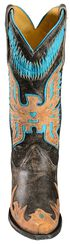 Corral Turquoise Eagle Overlay Cowgirl Boots - Snip Toe, Black, hi-res