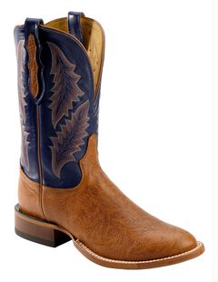 Tony Lama San Saba Royal Blue Cowboy Boots - Round Toe, , hi-res