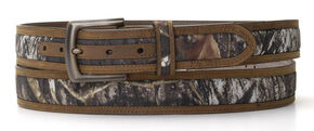 Nocona Double Stitched Mossy Oak Belt - Large, Mossy Oak, hi-res