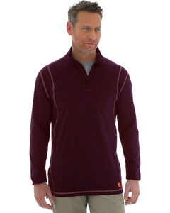 Wrangler 20X Flame Resistant Quarter-Zip Long Sleeve Pullover, , hi-res