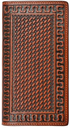 Justin Basketweave Rodeo Wallet, , hi-res