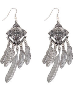 Shyanne Women's Concho Dreamcatcher Earrings, , hi-res