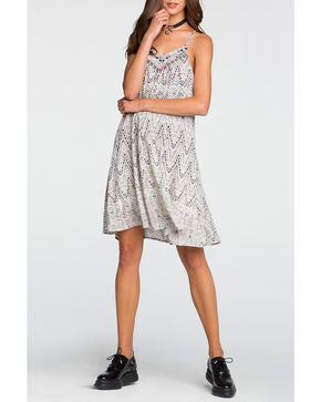 Miss Me Women's White Printed Camisole Swing Dress , White, hi-res