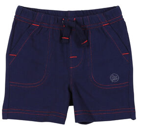 Wrangler Infant Boys' Navy Drawstring Knit Shorts, Navy, hi-res