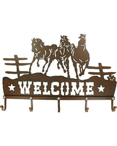 Western Moments Metal Welcome Hanging Hooks, Brown, hi-res