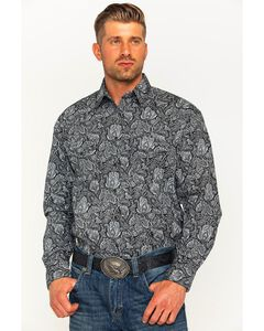 Rough Stock by Panhandle Men's Alsemberg Vintage Print Snap Shirt, , hi-res