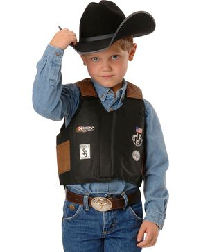 Kids' Bull Rider Play Vest - 2-10 Years, Black, hi-res