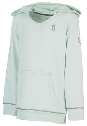 Browning Girls' Green Windflower Sweatshirt , Green, hi-res
