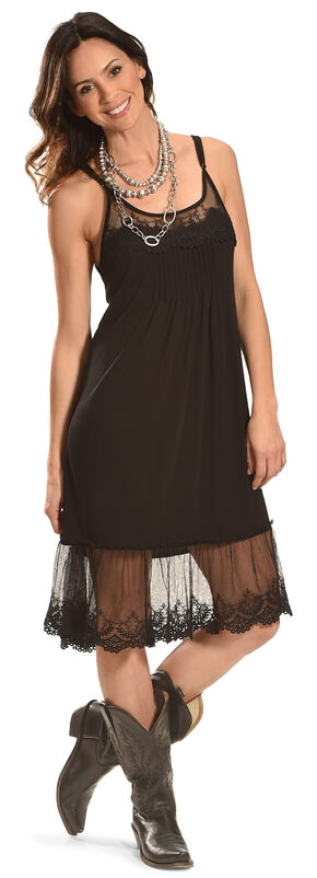 Angel Ranch Women's Black Endless Summer Dress , Black, hi-res