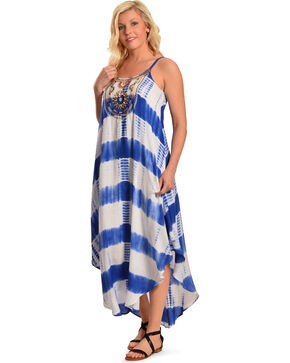Flying Tomato Women's Tie-Dye Maxi Dress, Blue, hi-res