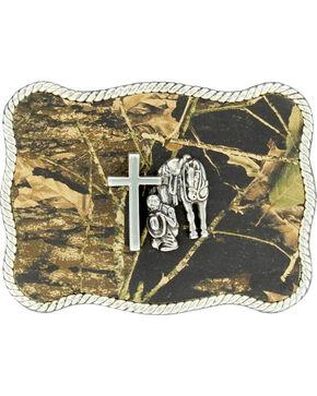 Nocona Camo Cowboy Prayer Belt Buckle, Camouflage, hi-res