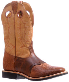 Boulet Cognac Bullhide Extralight Cowboy Boots - Square Toe 5263 , Cognac, hi-res