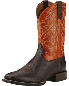 Ariat Autumn Dust Sport Herdsman Cowboy Boots - Square Toe, Coffee, hi-res