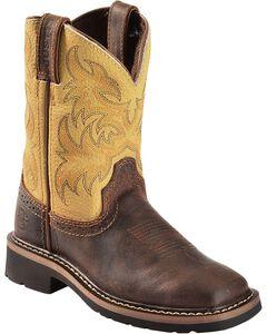 Justin Children's Stampede Work Boots - Square Toe, , hi-res