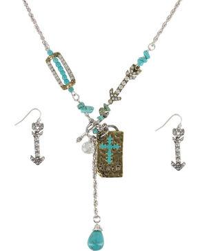 Shyanne Women's Faith Charm Jewelry Set, Silver, hi-res