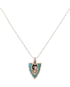Silver Legends Women's Turquoise Eagle/Feather Arrowhead Necklaces , Turquoise, hi-res