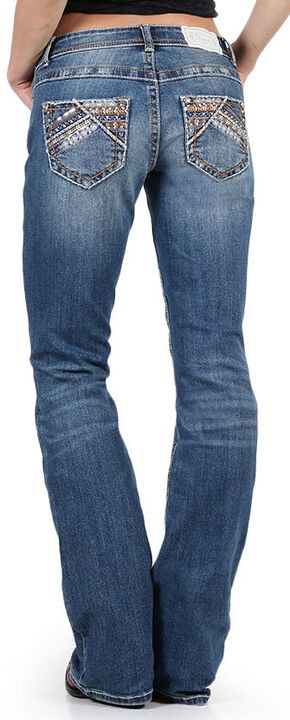 Shyanne Women's Slim Fit Boot Cut Jeans, Blue, hi-res