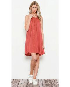 Illa Illa Women's Sleeveless Dress with Lace Detail, , hi-res