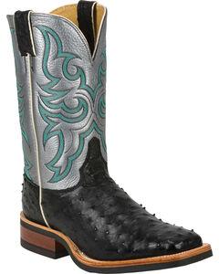 Justin Full Quill Ostrich Atomic Mercury Cowboy Boots - Square Toe, , hi-res