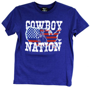 Cowboy Hardware Youth Vintage Short Sleeve Tee, Royal, hi-res