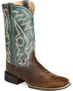 Old West Cowboy Boots - Wide Sq Toe, , hi-res