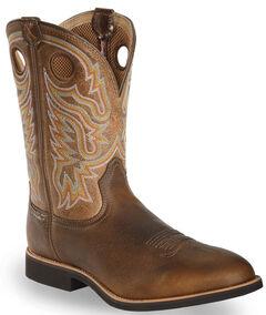 Twisted X Tan Joe Beaver Calf Roper Cowboy Boots - Round Toe, , hi-res