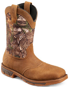 Red Wing Irish Setter Marshall Camo Waterproof Work Boots - Square Toe , , hi-res