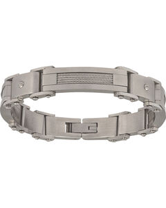 Montana Silversmiths Men's Stainless Steel Rivet Bracelet, , hi-res