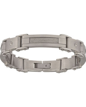 Montana Silversmiths Men's Stainless Steel Rivet Bracelet, Silver, hi-res