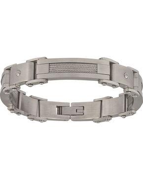 Montana Silversmiths Men's Stainless Steel Rivet Bracelet, Silver, hi-res