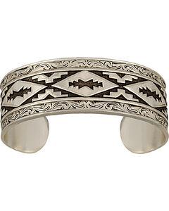 Montana Silversmiths Antiqued Aztec Steps Pattern Cuff Bracelet, , hi-res