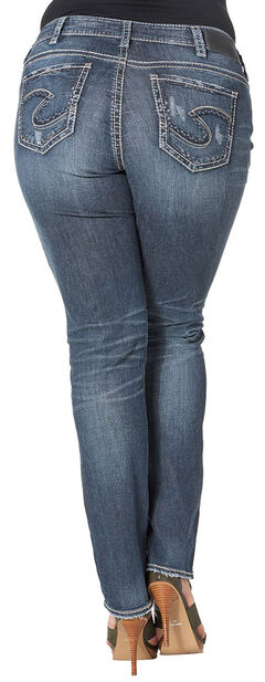 Silver Women's Suki Mid Straight Dark Wash Jeans - Plus Size, , hi-res