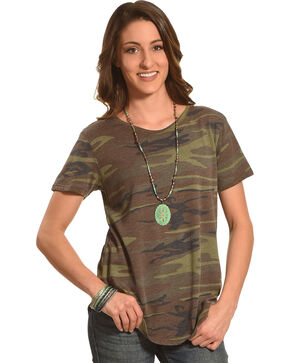 Z Supply Women's Camouflage Ultimate Camo Crew T-Shirt , Camouflage, hi-res