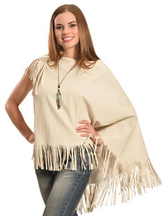 Cowgirl Justice Women's Mariah Fringe Poncho, , hi-res