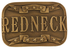 Cody James Men's Brass Redneck Belt Buckle, Multi, hi-res