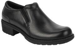 Eastland Women's Black Double Down Slip-Ons , , hi-res
