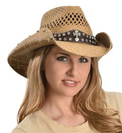 Bullhide More Than Words Panama Straw Cowgirl Hat, , hi-res