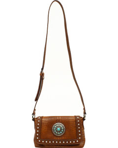 Blazin Roxx Charlotte Collection Concho Crossbody Purse, , hi-res