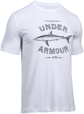 Under Armour Men's Classic Shark Graphic T-Shirt, White, hi-res
