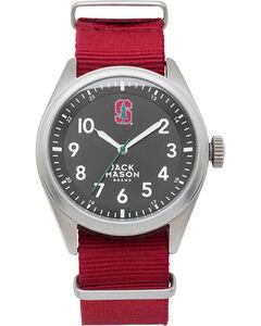 Jack Mason Men's Red Stanford Cardinal Solid Nato Strap Watch , , hi-res