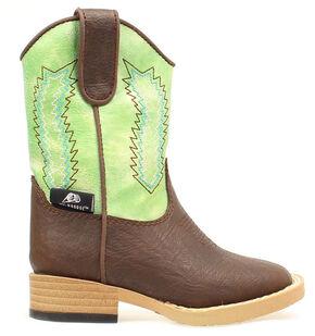 Double Barrel Boys' Wyatt Zip Boots, Brown, hi-res