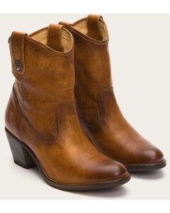 Frye Women's Cognac Jackie Button Short Boots - Medium Toe , , hi-res